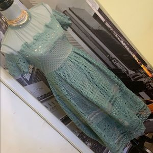 Romeo & Juliete lace dress 👗 teal green and nude